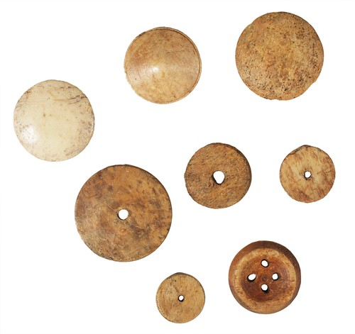Bone buttons and discs | by Wessex Archaeology