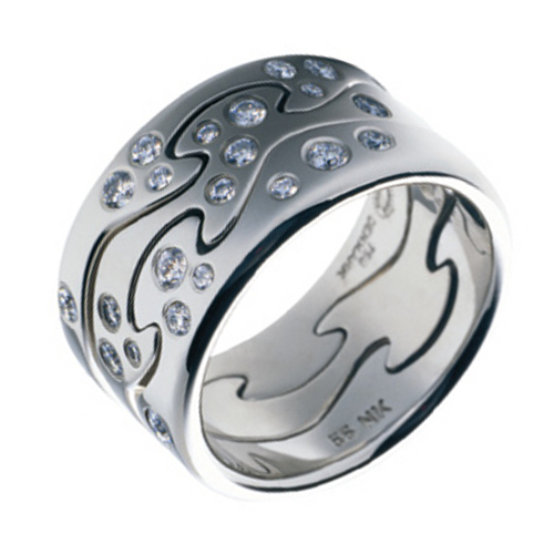 Georg Jensen Fusion Ring White Gold with Diamonds Flickr