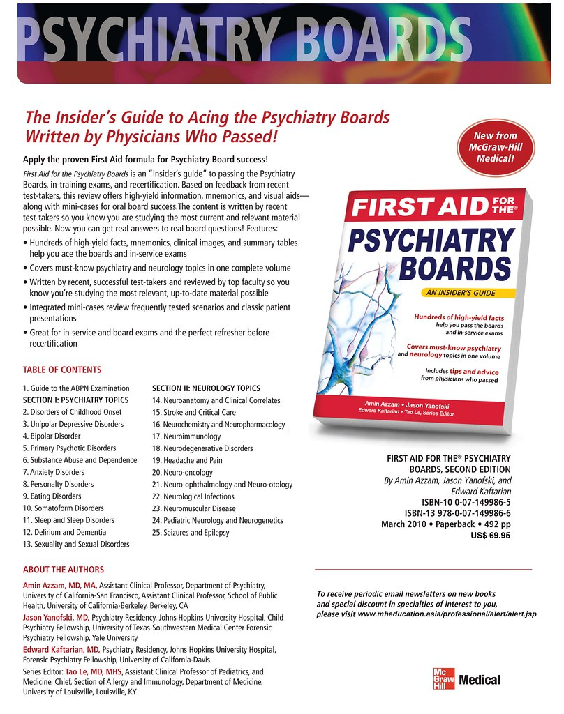 First Aid For The Psychiatry Boards First Aid For The Psyc Flickr