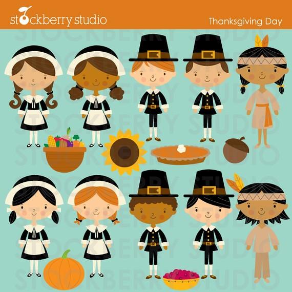 Thanksgiving Day Kids   Thanksgiving Day kids clipart set. A…   Flickr