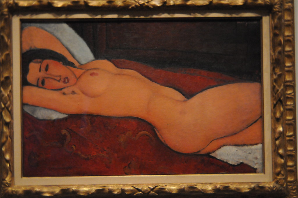 Reclining Nude - Amedeo Modigliani 1917  Oil On Canvas H -4536