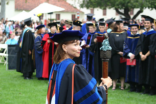 Terry Ballman with Mace at the beginning of ceremony | by California State University Channel Islands