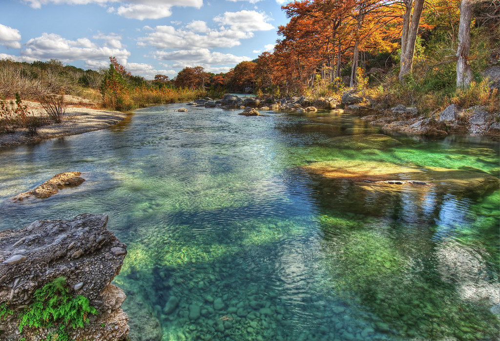 The Emerald Pools Of The Frio River Hdr Garner State Par Flickr