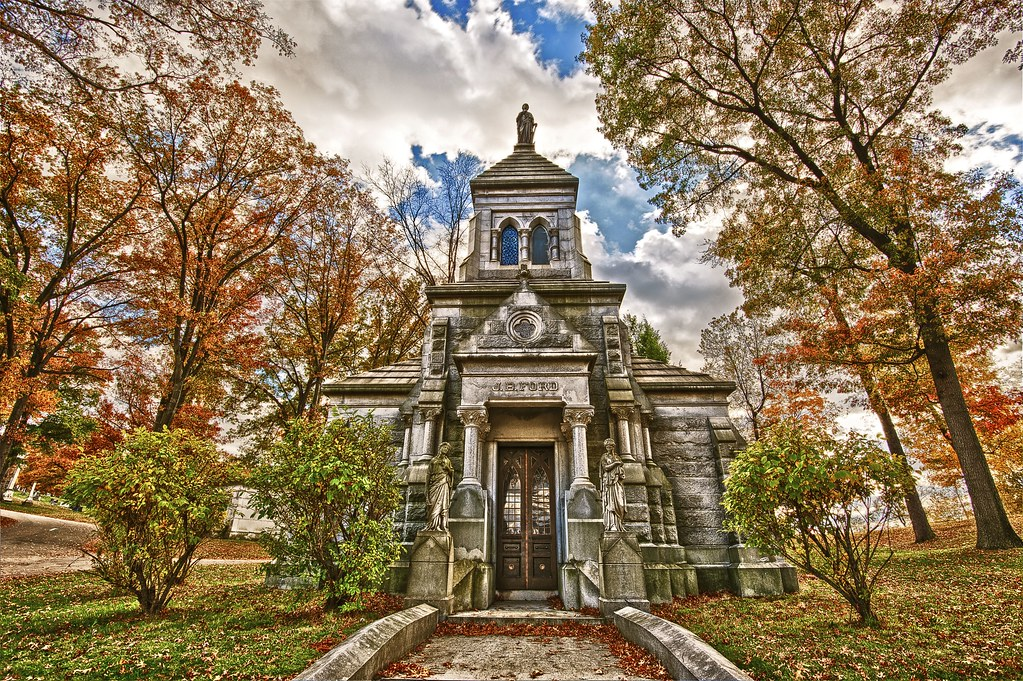 j b ford mausoleum in hdr for death is no more than a tu flickr