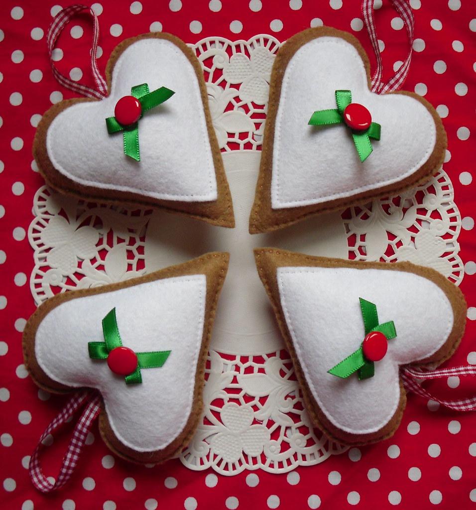 Christmas Pudding Hearts