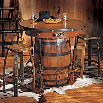 Cowboy Western Pub Table And Bar Stools Rustic Western Sty Flickr