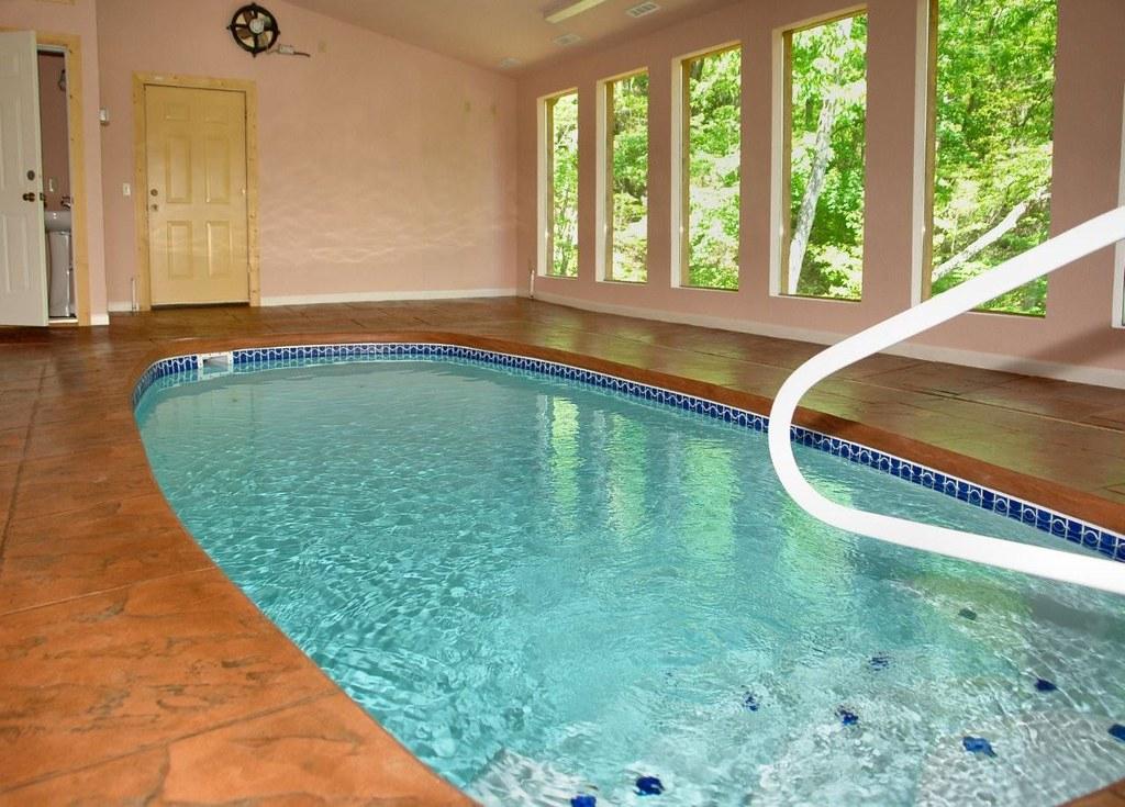 Heated Indoor Swimming Pool In This Large Gatlinburg Cabi
