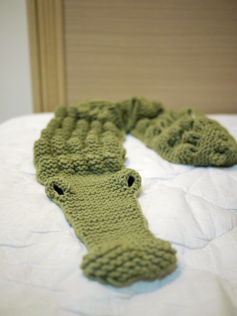 Alligator Scarf Knitkit Emily Hse Flickr
