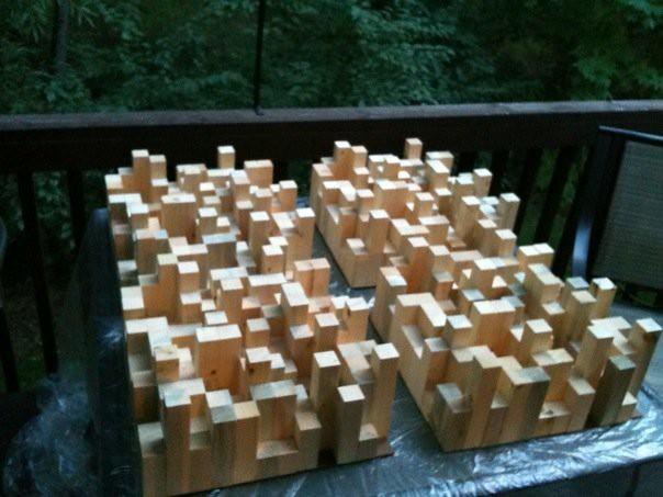 Quadratic Residue Diffusers. DIY. Built for Evermax Media ...
