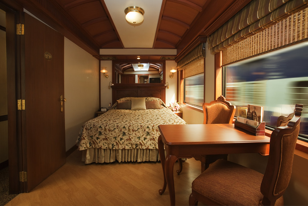 ... Bedroom With Double Bed On A Luxury Train | By Train Chartering U0026  Private Rail Cars