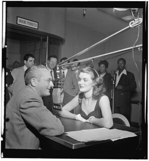 [Portrait of Tommy Dorsey, Beryl Davis, Georgie Auld, Ray McKinley, Johnny Desmond, Vic Damone, Mel Tormé, Mary Lou Williams, and Josh White, WMCA, New York, N.Y., ca. Oct. 1947] (LOC) | by The Library of Congress