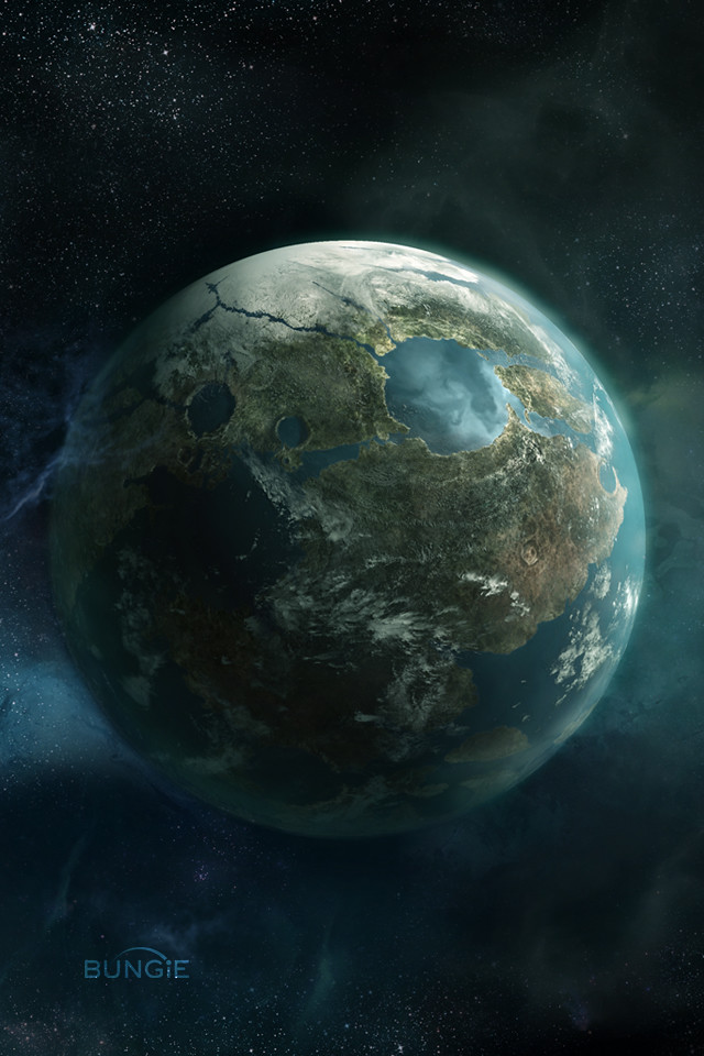 halo reach planet iphone wallpaper originally from