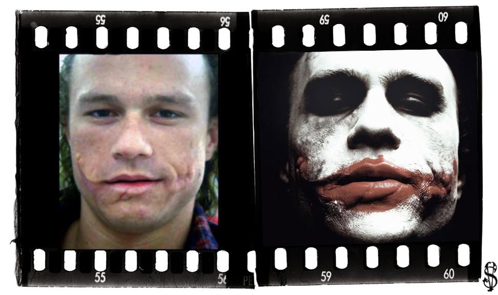 Jokerledger No Makeup Rare Pic Of Heat Ledger With Joke Flickr - Joker-no-makeup-ics