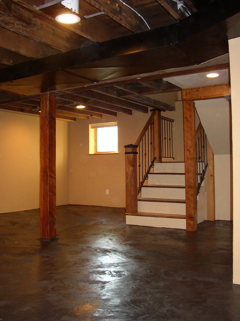 By Portland Tradesmen Basement Stairs With Reclaimed Wood And Iron Stair  Rail. | By Portland Tradesmen