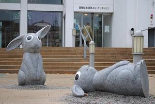 Skulpturen vor Dunkers