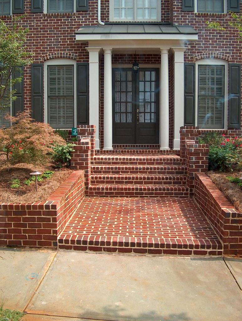 Design Of Brick Retaining Wall : Brick steps paving retaining walls