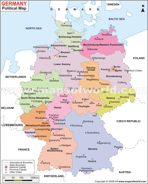 ... Germany Map | By MapsOfWorld.com