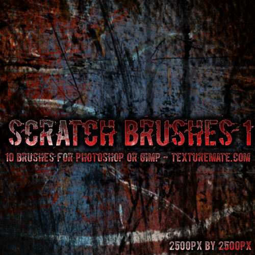 Scratch Brushes 01 for Photoshop or Gimp | by Texturemate