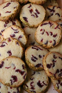 Cranberries Almond Shortbread Cookies | by Le Petrin