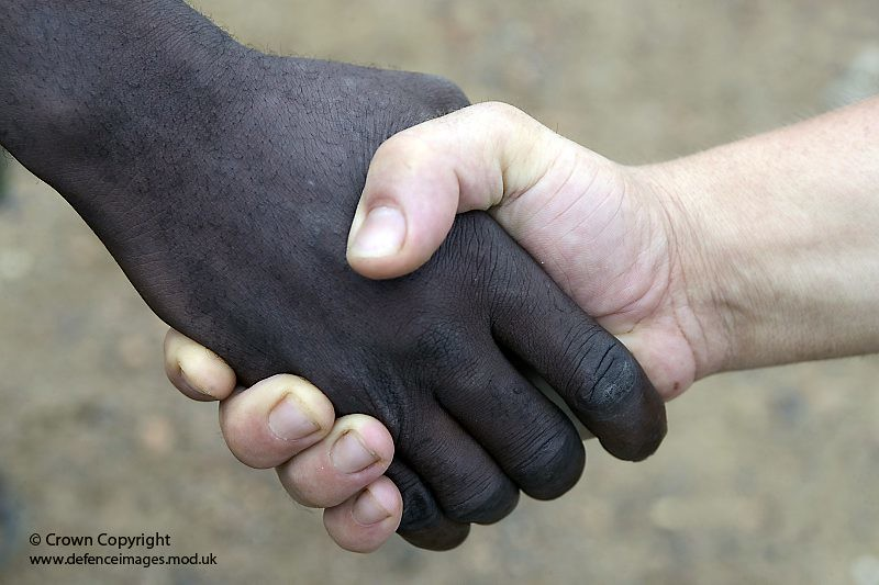 Black white people together