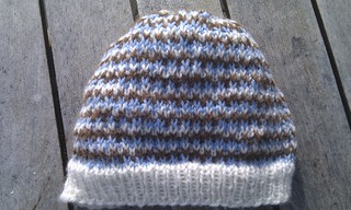 Newborn slip stitch hat | by knitfaced