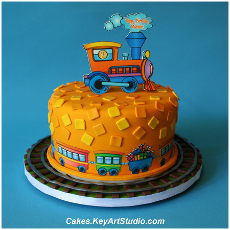 how to make a 3d train cake