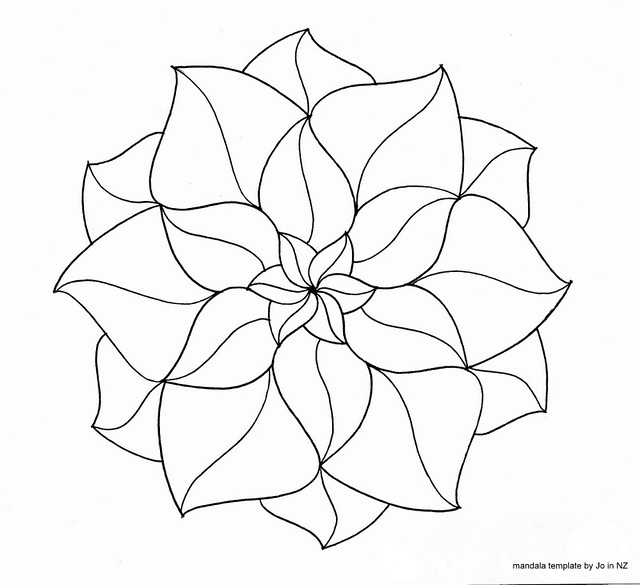 Blank Printable Zentangle Templates . Mandalas Coloring Pages free ...