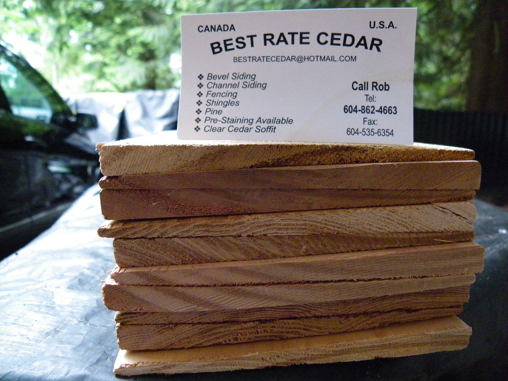 Clear 1 2x6 Cedar Bevel Siding Finger Jointed Call Ft