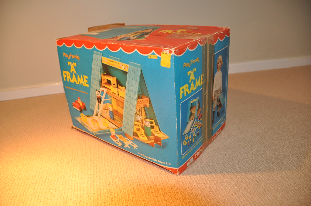 Fisher price play family a frame house box jadedoz flickr for A frame house cost