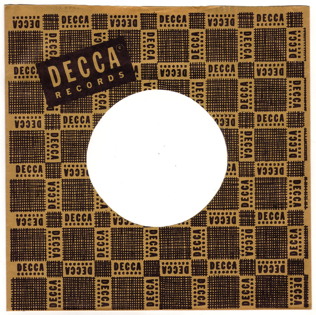 1950s Decca Records 45 Rpm Record Sleeve Founded In