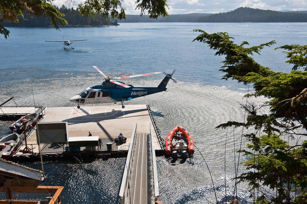 Helijet at langara island lodge helijet helicopter for Langara fishing lodge