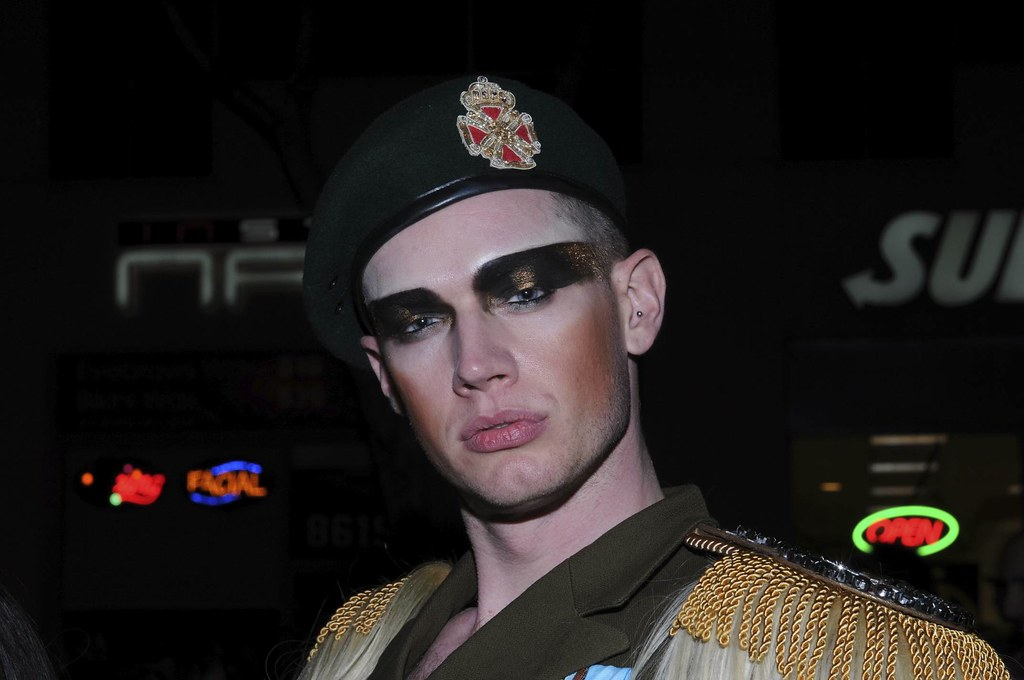 Soldier with Eye Makeup Halloween West Hollywood 2010 - 08… | Flickr