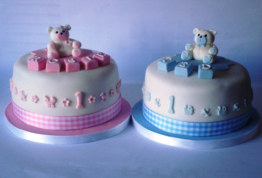 Twins 1st Birthday Cakes Cakes For Twins Rosie Ted Rosi Flickr