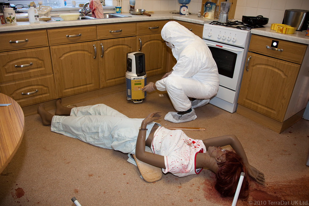 Kitchen murder scene one of five scanner positions used for Most famous child murders