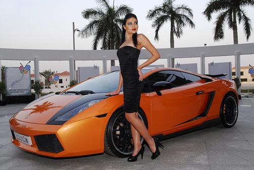 lamborghini girl orange lamborghini gallardo and beautiful