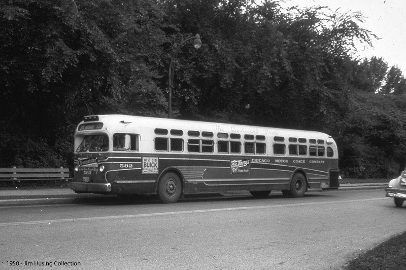 historic photo chicago motor coach company 40 foot genera