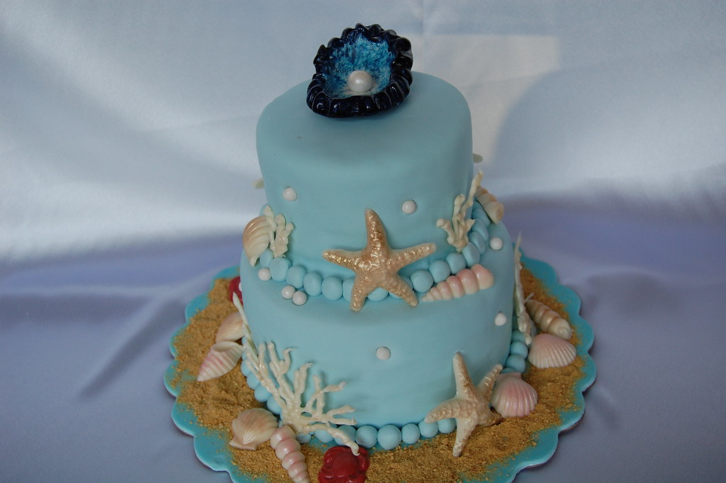 Seashell Cake Special Request Made By A Birthday Girl For Flickr