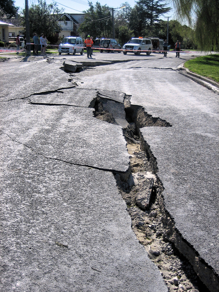 Earthquake damage - road | Aftermath of September 4th ...