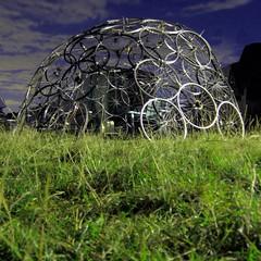 Bike wheels dome at Small World 2010