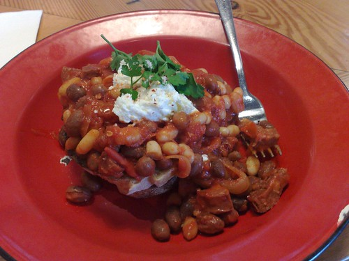 baked beans on toast and chorizo, I think | by snarkattack