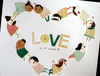 Love is All Around | by Cut Paper Paste