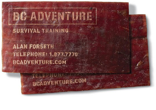 Bc Adventure Meat Business Card Part Of The Edible Busines Flickr