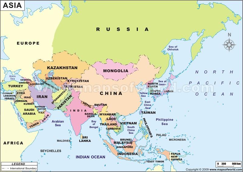 Asia Map | www.mapsofworld.com/asia-political-map.htm | MapsOfWorld ...