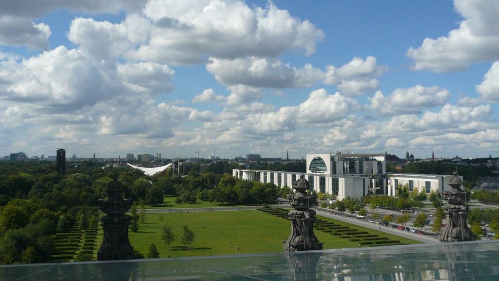 Jardin officiel vue depuis le toit du reichstag de la for Maison du monde site officiel