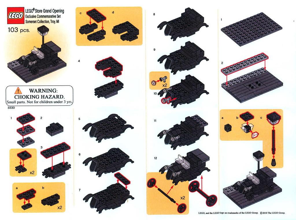 3330 - Classic Car - Instructions Insert | Classic Car Set f… | Flickr