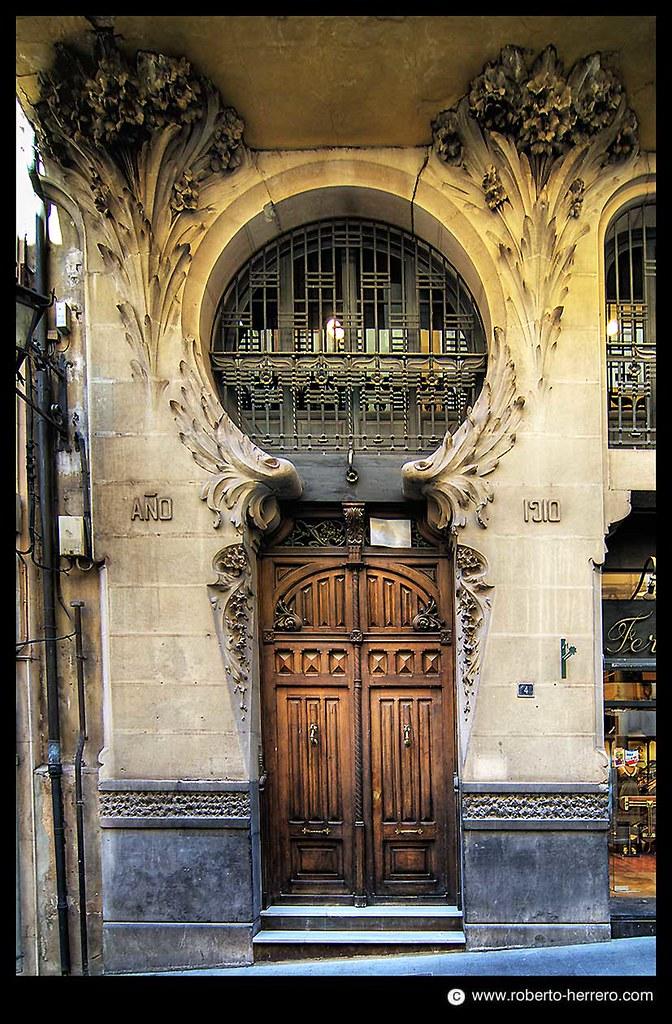 Puerta Modernista 1910 En Teruel Arag 243 N Spain Roberto