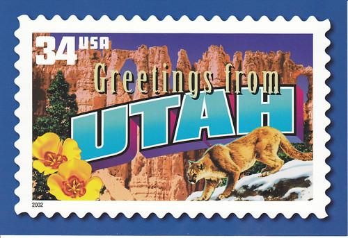 usps greetings from utah postcard
