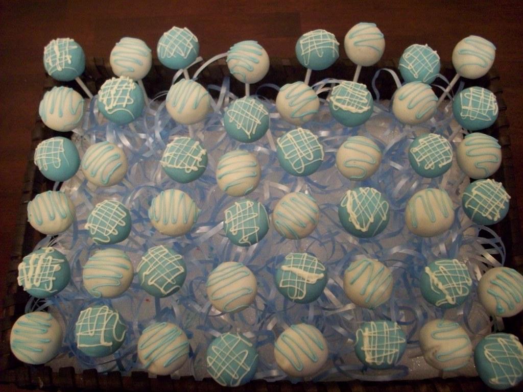 Baptism Cake Pops Chocolate cake pops for baby Alden s ...