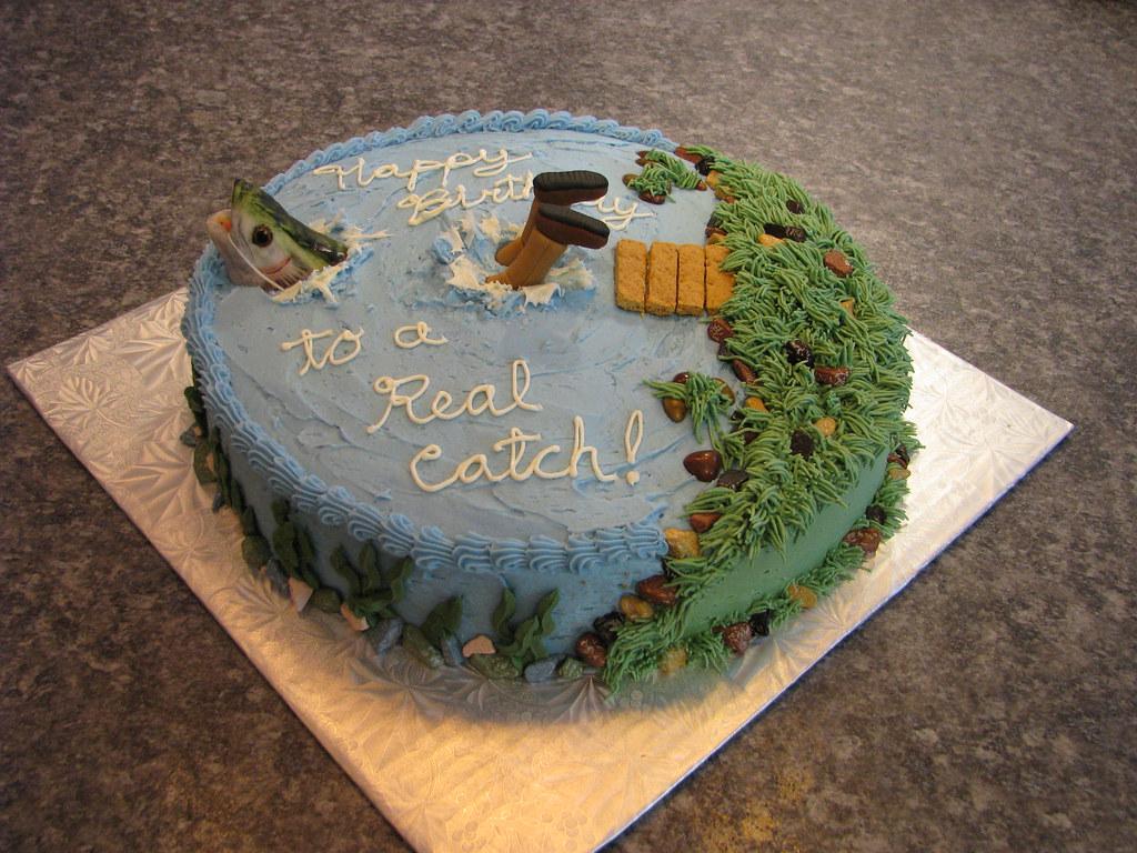 Fish Shaped Birthday Cake