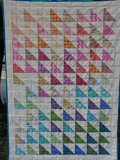 Rainbow Half Square Triangles | by susan mz fuller